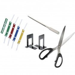 CUTTER,FASTNER,LETTER OPENER,SCISSORS,MAGNIFIER & BOOK END